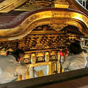 阿弥陀堂内陣修復情報 宮殿修復 Vol.1「宮殿の解体」