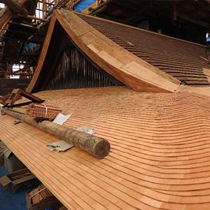 飛雲閣修復情報 屋根葺替工事 Vol.6「施工開始から半年が経ちました」