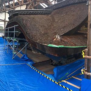 唐門修復情報 素屋根建設工事 Vol.4「素屋根が完成しました」